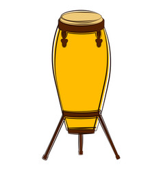 Isolated conga drum sketch musical instrument vector