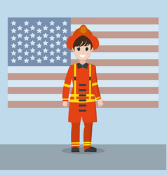 Labor day firefigther vector
