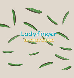 Ladyfinger flat and clean background vector