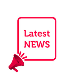 latest news icon news megaphone speaker in frame vector image