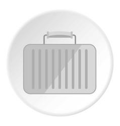 Little woman bag icon circle vector