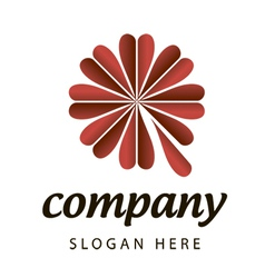 Logo florist vector