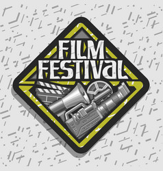 Logo for film festival vector