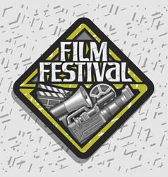 Logo for film festival vector