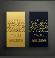 Luxury mandala style card design vector