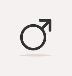 male symbol with shade on a beige background vector image