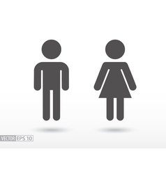 Man and woman - flat icon vector image