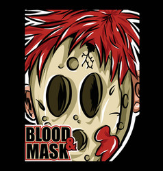 Mask and blood vector