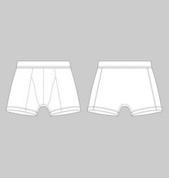 eed70d8eb491 Men underpants man underwear white boxer shorts vector ...