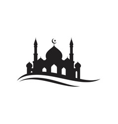 mosque moslem icon vector image