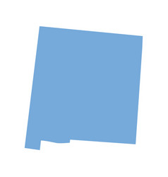 new mexico state map vector image