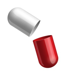 Opening red medical capsule vector image