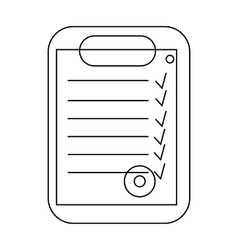 Plan document icon outline style vector image