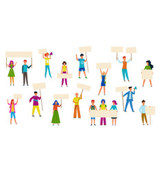protesting people peaceful protest march men vector image