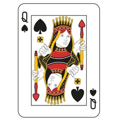 Queen of spades vector