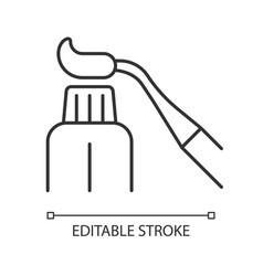 Resin dental material linear icon vector