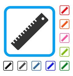 ruler framed icon vector image