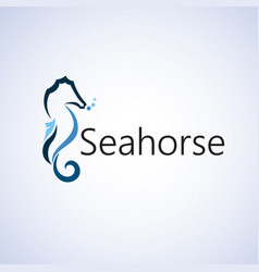 Seahorse logo ideas design on vector