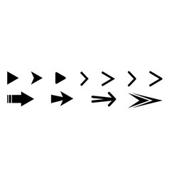 set black arrows icons vector image