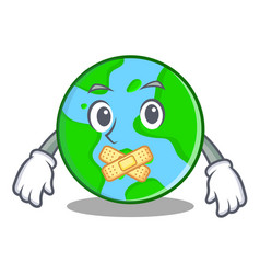 silent world globe character cartoon vector image