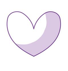 Silhouette cute heart to love symbol design vector