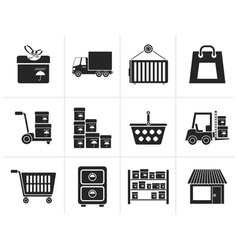 Silhouette Storage transportation cargo vector image