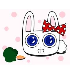 Snow rabbit vector