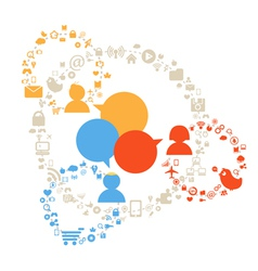 Social Network Diagram vector image