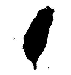 Taiwan silhouette map vector