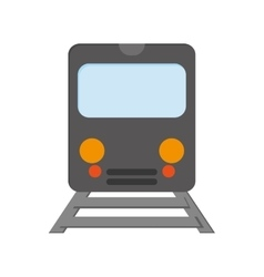 train frontview icon vector image