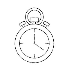 uncolored chronometer vector image