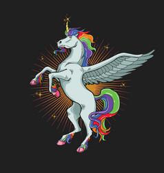 unicorn horse graphic vector image