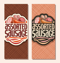 Vertical banners for sausage vector