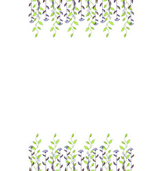watercolor flower background vector image vector image