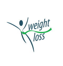 weight loss logo vector image
