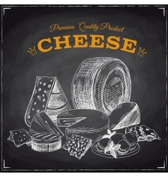 Hand drawn with cheese vector image vector image