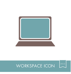 laptop outline icon workspace sign vector image vector image