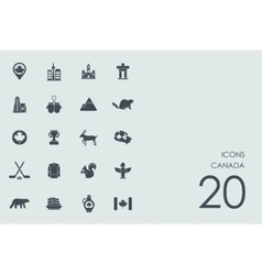 Set of Canada icons vector image