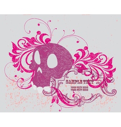 Background with skull vector image vector image