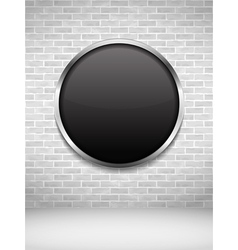 Black Round Frame on Brick Wall vector image vector image