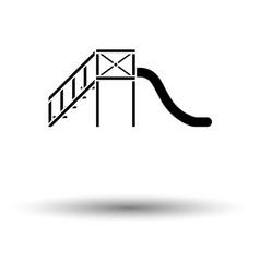 childrens slide ico vector image
