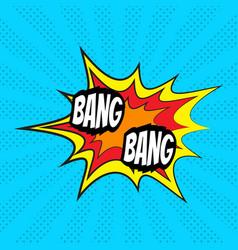 comic speech bubble bang vector image