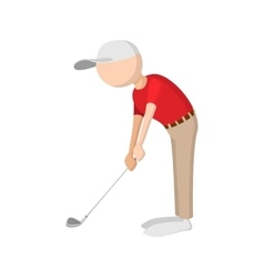 Golfer cartoon icon vector image vector image