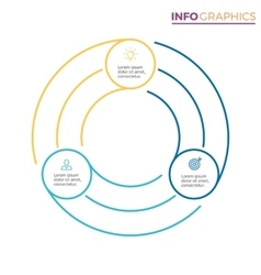 Linear infographics Chart with 3 steps options vector image vector image