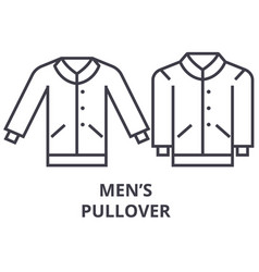 men pullover line icon outline sign linear vector image vector image