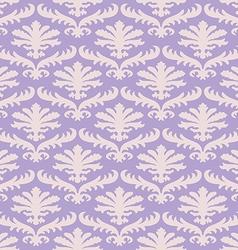 damask seamless floral pattern background vector image