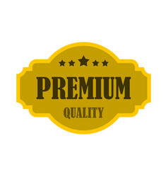 premium quality label icon flat style vector image