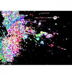 abstract splatter vector image vector image