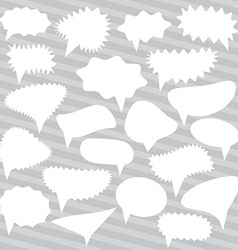 Blank Empty White Speech bubbles set on gray vector image