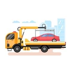 Car evacuator flat vector image vector image